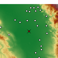 Nearby Forecast Locations - Corcoran - Χάρτης