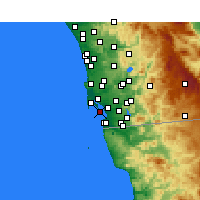 Nearby Forecast Locations - Coronado - Χάρτης