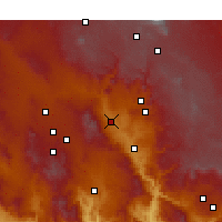 Nearby Forecast Locations - Cottonwood - Χάρτης