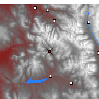 Nearby Forecast Locations - Crested Butte - Χάρτης