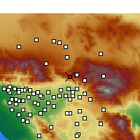 Nearby Forecast Locations - Crestline - Χάρτης
