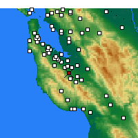 Nearby Forecast Locations - Cupertino - Χάρτης