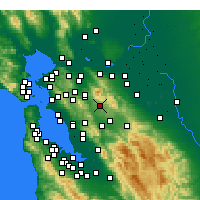Nearby Forecast Locations - Danville - Χάρτης