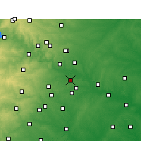 Nearby Forecast Locations - Del Valle - Χάρτης