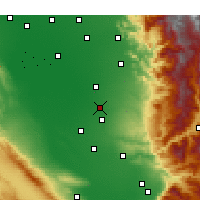 Nearby Forecast Locations - Delano - Χάρτης