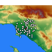 Nearby Forecast Locations - Downey - Χάρτης