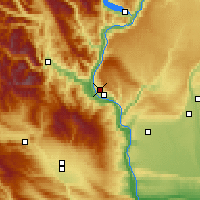 Nearby Forecast Locations - East Wenatchee - Χάρτης
