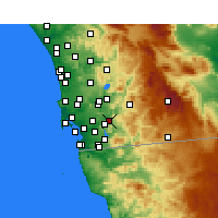 Nearby Forecast Locations - El Cajon - Χάρτης