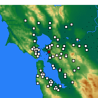 Nearby Forecast Locations - El Cerrito - Χάρτης
