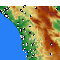 Nearby Forecast Locations - Escondido - Χάρτης