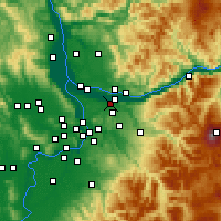Nearby Forecast Locations - Fairview - Χάρτης