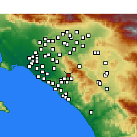 Nearby Forecast Locations - Foothill Ranch - Χάρτης