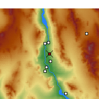 Nearby Forecast Locations - Fort Mohave - Χάρτης