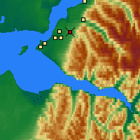 Nearby Forecast Locations - Fort Richardson - Χάρτης