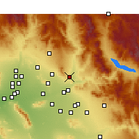 Nearby Forecast Locations - Fountain Hills - Χάρτης