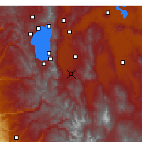 Nearby Forecast Locations - Gardnerville - Χάρτης