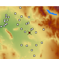 Nearby Forecast Locations - Gilbert - Χάρτης