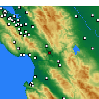 Nearby Forecast Locations - Gilroy - Χάρτης