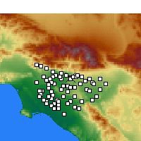 Nearby Forecast Locations - Glendora - Χάρτης