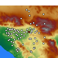 Nearby Forecast Locations - Grand Terrace - Χάρτης