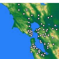 Nearby Forecast Locations - Greenbrae - Χάρτης