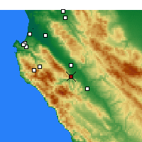 Nearby Forecast Locations - Greenfield - Χάρτης