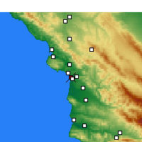 Nearby Forecast Locations - Grover Beach - Χάρτης