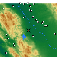 Nearby Forecast Locations - Gustine - Χάρτης