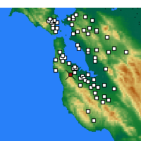 Nearby Forecast Locations - Half Moon Bay - Χάρτης