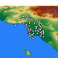 Nearby Forecast Locations - Hermosa Beach - Χάρτης