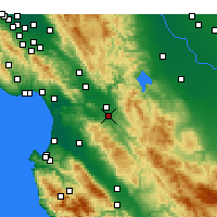 Nearby Forecast Locations - Hollister - Χάρτης
