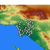 Nearby Forecast Locations - Huntington Park - Χάρτης