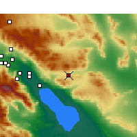 Nearby Forecast Locations - Indio - Χάρτης