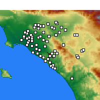 Nearby Forecast Locations - Irvine - Χάρτης