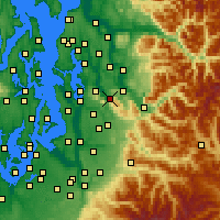 Nearby Forecast Locations - Issaquah - Χάρτης