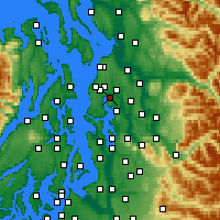 Nearby Forecast Locations - Kenmore - Χάρτης