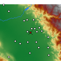 Nearby Forecast Locations - Kingsburg - Χάρτης