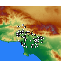 Nearby Forecast Locations - La Crescenta-Montrose - Χάρτης