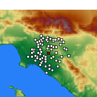 Nearby Forecast Locations - La Habra - Χάρτης