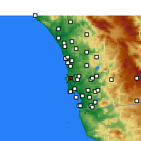 Nearby Forecast Locations - La Jolla - Χάρτης