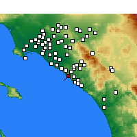 Nearby Forecast Locations - Laguna Beach - Χάρτης