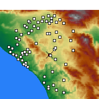 Nearby Forecast Locations - Lake Elsinore - Χάρτης