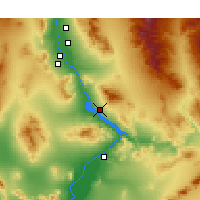 Nearby Forecast Locations - Lake Havasu City - Χάρτης