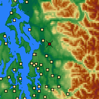 Nearby Forecast Locations - Lake Stevens - Χάρτης