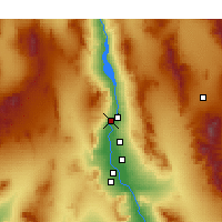Nearby Forecast Locations - Laughlin - Χάρτης