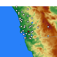 Nearby Forecast Locations - Lemon Grove - Χάρτης