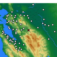 Nearby Forecast Locations - Livermore - Χάρτης