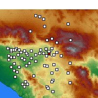 Nearby Forecast Locations - Loma Linda - Χάρτης