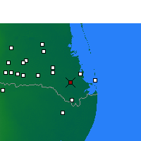Nearby Forecast Locations - Los Fresnos - Χάρτης