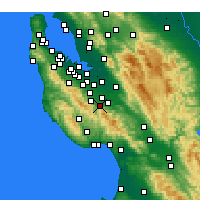 Nearby Forecast Locations - Los Gatos - Χάρτης